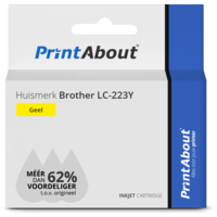 Huismerk Brother LC-223Y Inktcartridge Geel