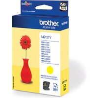 Brother LC-121Y Inktcartridge Geel