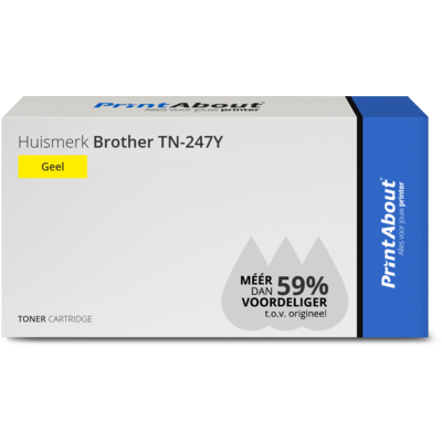 Huismerk Brother TN-247Y Toner Geel