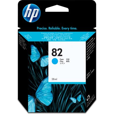 HP 82 (C4911A) Inktcartridge Cyaan