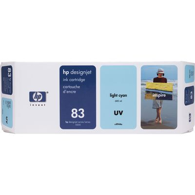 HP 83 (C4944A) Inktcartridge UV-licht-cyaan