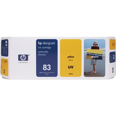 HP 83 (C4943A) Inktcartridge UV-geel