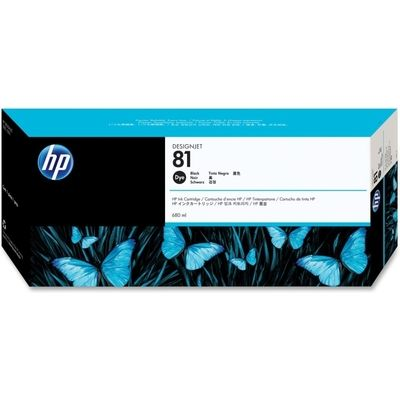HP 81 (C4930A) Inktcartridge Zwart