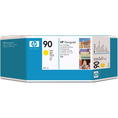 HP 90 (C5065A) Inktcartridge Geel