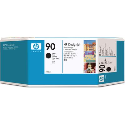 HP 90 (C5058A) Inktcartridge Zwart