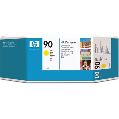 HP 90 (C5064A) Inktcartridge Geel