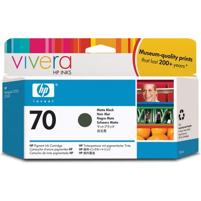 HP 70 (C9448A) Inktcartridge Mat-zwart