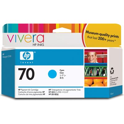 HP 70 (C9452A) Inktcartridge Cyaan