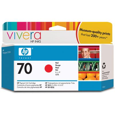 HP 70 (C9456A) Inktcartridge Rood