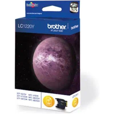 Brother LC-1220Y Inktcartridge Geel