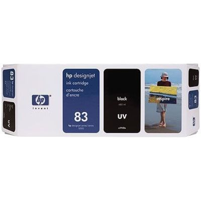 HP 83 (C4940A) Inktcartridge UV-zwart