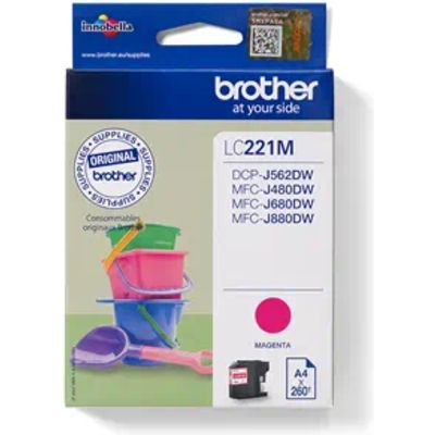 Brother LC-221M Inktcartridge Magenta