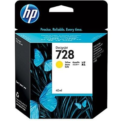 HP 728 (F9J61A) Inktcartridge Geel